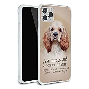 American Cocker Spaniel Dog Breed Protective Slim Fit Hybrid Rubber Bumper Case Fits Apple iPhone 8, 8 Plus, X, 11, 11 Pro,11 Pro Max 5