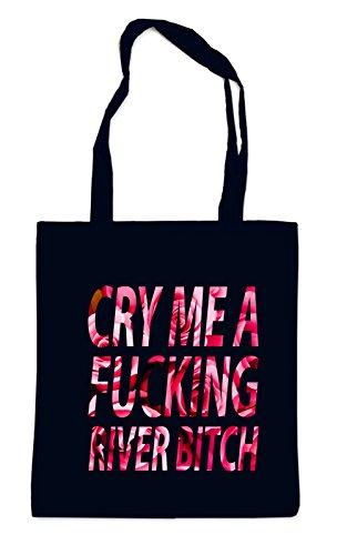 Cry me a River Roses Bag Black