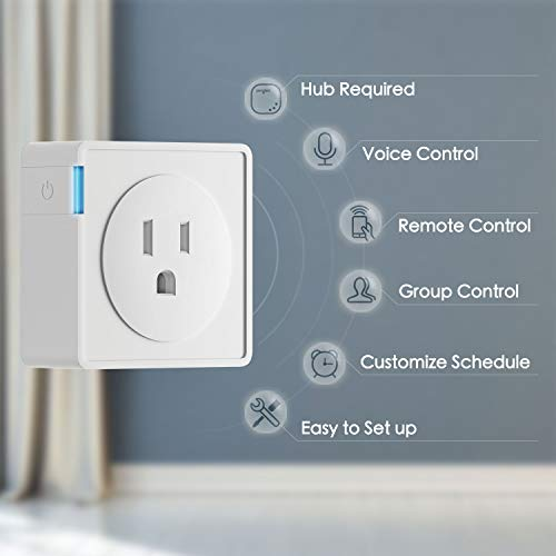 Sengled Plug Smart Outlet Compatible with Alexa and Google Assistant Hub Required APP Control Timer Function Type B Mini Smart Socket (2 Pack)