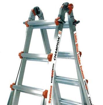 26 1A Little Giant Ladder Classic Champ Bundle - Includes 4 Accessories: Work Platform, Cargo Hold, 4ft Master Ladder Lock, & Wheels