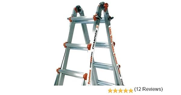 26 1 Un poco gigante escalera Classic Champ Bundle – Incluye 4 Accesorios: Plataforma de trabajo, escalera de sujeción de carga, 4 ft Master Lock, & ruedas: Amazon.es: Bricolaje y herramientas
