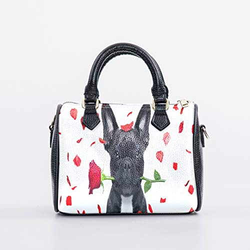 Boston Girls Shoulder Bag Pillow Handbags French Bulldog Dog Crazy And Silly In Love On Vale Print Top Handle Barrel Lady Purse Handle Shoulder Bag For Woman