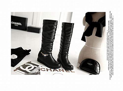 Noir Pour Bottes aller Tout Chaudes Tailles Wsr Femmes Hautes Femmes Chaussures Grandes wxHqgWPA