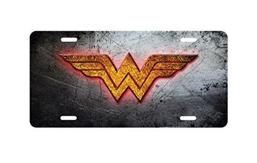 panda Wonder Woman Logo Aluminum Novelty License Plate license frame custom Metal License Plate for Car Novelty license plate 12 inch X 6 inch by Panda plate