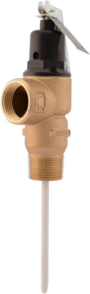 Cash Acme 16931-0150 Temp Pressure Relief Valve, Brass