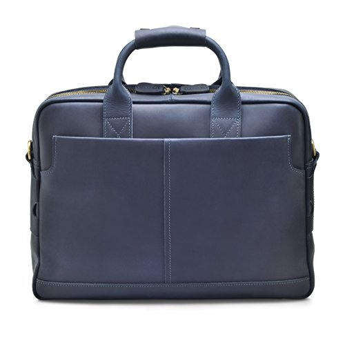 """Hølssen Men's Leather Briefcase Messenger Bag (Dark Blue) Professional Business Satchel w/ 15"""" Laptop Pocket by Hølssen (Image #7)"""