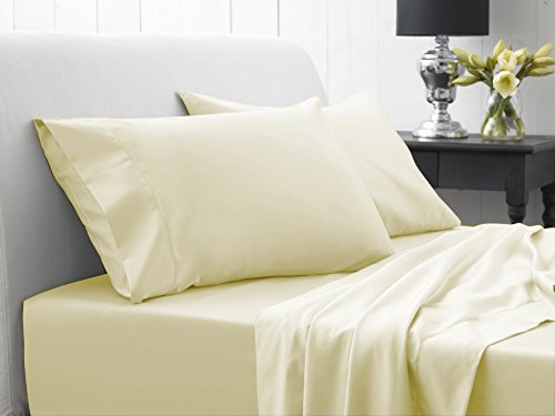 1200 Thread Count Solid Ivory Egyptian Cotton HIGH CLASS ...