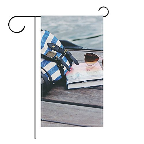YourPink Garden Flag Handbag Sunglasses Book River 12x18 inches(Without - Sunglasses Beck