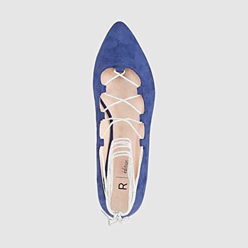Redoute Ballerine 36 La Materiale Donna Sintetico in Blu Collections Taglia d8t8wSxqC