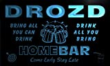 q12266-b DROZD Family Name Home Bar Beer Mug Cheers Neon Light Sign