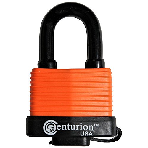 Centurion WPP Laminated Waterproof Padlock, Wide Body - Weather Resistant Outdoor Padlock, 3 Keys Included (50mm Body) (Best Padlock For Outdoor Shed)