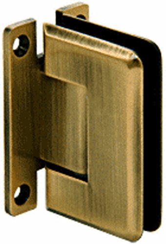 - CRL Pinnacle 537 Series Antique Brass Wall Mount Full Back Plate Standard Hinge with 5186; Offset