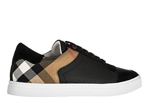 BURBERRY Herrenschuhe Herren Leder Schuhe Sneakers Schwarz