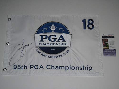 Jason Dufner signed 2013 PGA Championship Winner Golf Pin Flag JSA COA