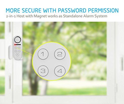 bibene door alarm system home security diy kit 4 zones loud 130db 2in1 host one button remote expandable 40 door window motion sensors