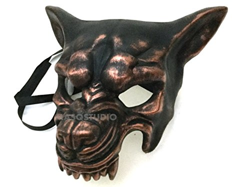 MasqStudio Brass Copper Wolf Mask Animal Masquerade Halloween Cosplay Graduation Party mask -