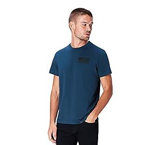 Marca Amazon - find. Camiseta Bronx para Hombre, Azul (Majolica Blue 002), L, Label: L