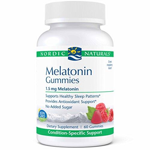 Nordic Naturals Pro Melatonin Gummies - 1.5 mg Melatonin Per Gummy, Support for Restful, Deep Sleep and Immune Functioning, Raspberry Flavor, 60 Gummies