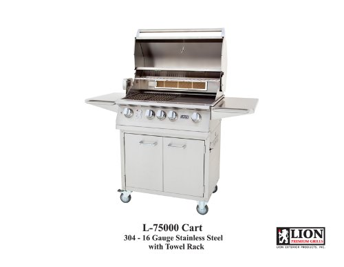 Lion 32 Inch Stainless Steel Propane Gas Grill On Cart by Lion Premium Grills
