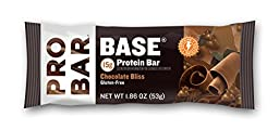 PROBAR - BASE 15g Protein Bar - Chocolate Bliss - Gluten-Free & Non-GMO - Pack of 12