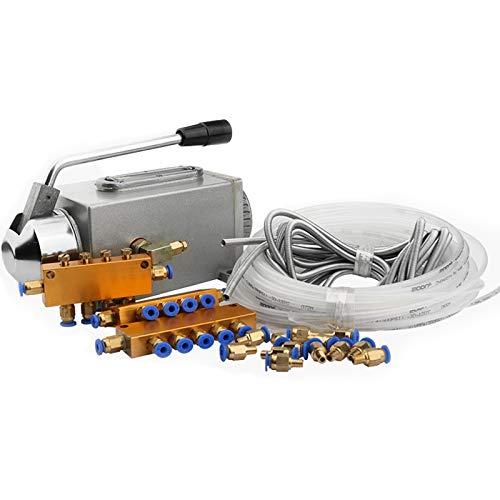 Andifany Un Set Lubrificazione Pompa a Olio Lubrificata a Mano Cnc Router Lubrificazione Elettromagnetica Pompa Lubrificatore Corpo in Acciaio Inossidabile