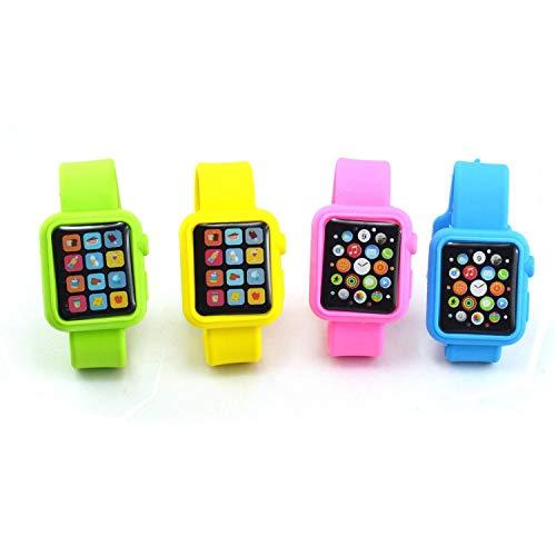Sshakuntlay ® Smart Watch Shaped Eraser for Kids (Pack of 4) (Assorted Color)