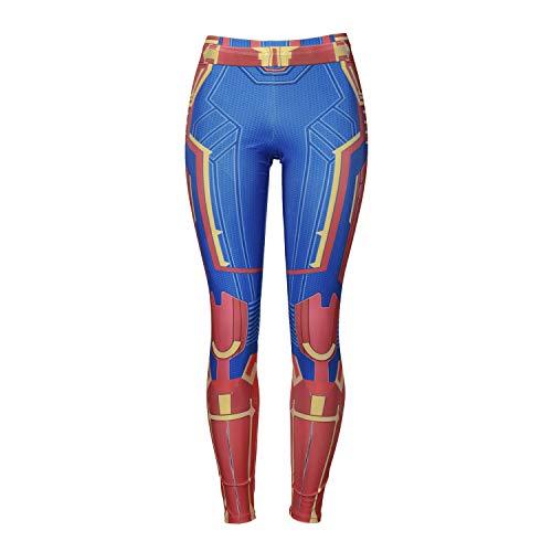 Lichee Womens Avengers Endgame Compression Yoga PantsFilm Tight Leggings Cosplay Pants -