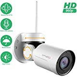 [PTZ & Built-in Mic] xmartO Add-on 960p HD Wireless Pan Tilt Outdoor Security IP Camera with Audio, 180° Pan and 55° Tilt Remote Control, 80ft IR Night Vision, 6mm Lens, 4X Digital Zoom