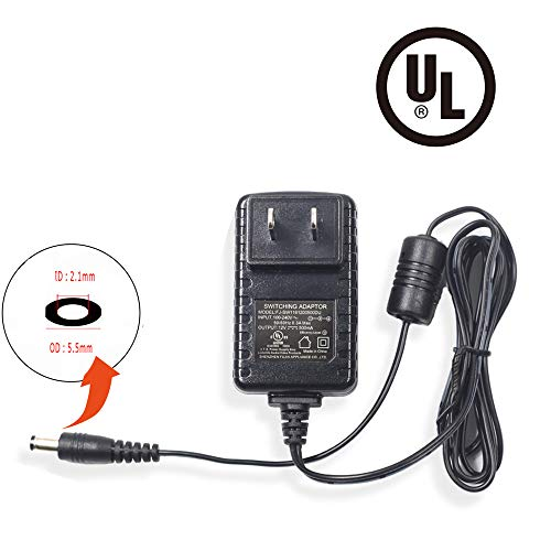 Bechol 12V 500mA Power Security Camera Supply AC/DC Power Adapter for Security CCTV Camera System NVR DVR Converter US