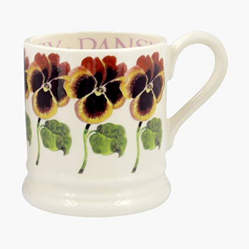 Emma Bridgewater Pansy Half Pint - 1/2 Pint Mug Flowers