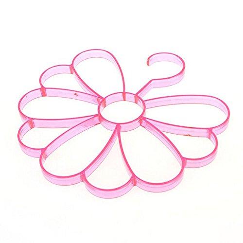 Standard Hangers Closet Multislot Shawl Towel Display Holder Scarf Tie Belt Hanger Closet Rack Organiser Plastic Color Pink Scarf Holder 1 Pcs