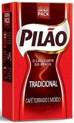 Coffee Rost and Ground - Café Torrado e Moído - Pilao 17.60oz. (500g) - GLUTEN-FREE - (PACK OF 06)