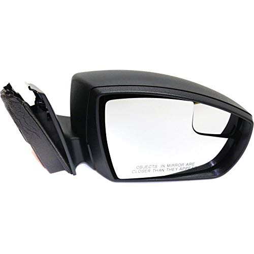 Kool Vue FD107ER Mirror for Focus 12-14 Right Side Power Manual Folding S/(Se 12-12) Models Sedan Textured Black ()