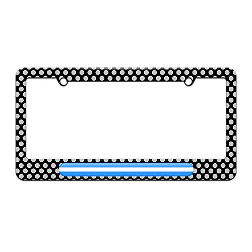 Graphics and More Thin White Line - Medical Doctor RN EMT - License Plate Tag Frame - Polka Dots Design (Emt License Plate Frame compare prices)
