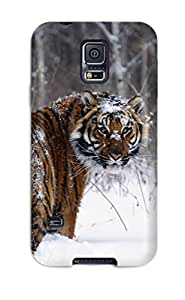 NrnZgsO6263BuODs Case Cover Protector For Galaxy S5 Tiger In Snow Case