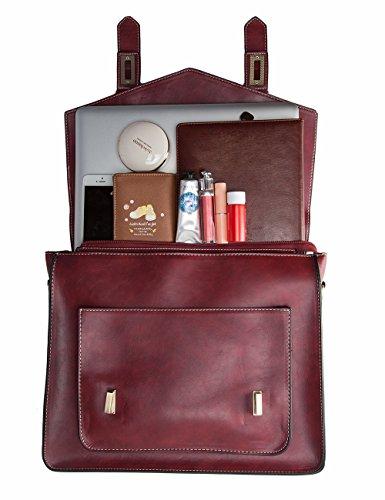 ECOSUSI Femme Sac Vintage Cartable Sac pour 7FzwP7grq
