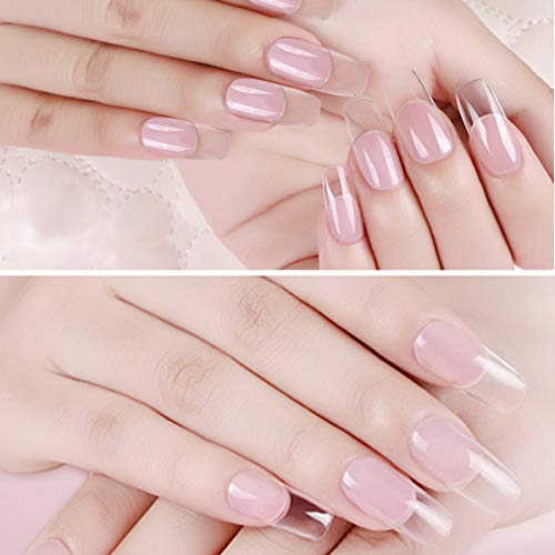 Poly Gel Nail Kit, Saviland 2 Colors UV Builder Gel Finger Extension Gel  Quick Building Gel 30 ml with Nail Brush Nail Forms Tips Nail Art Kit(Clear