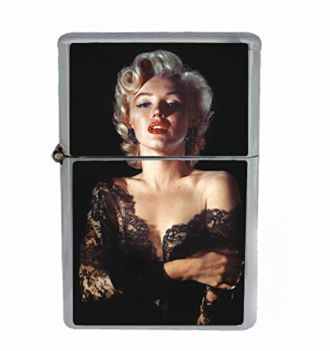 Marilyn Monroe in Lace Flip Top Oil Cigarette Lighter Sexy Smoking Classic