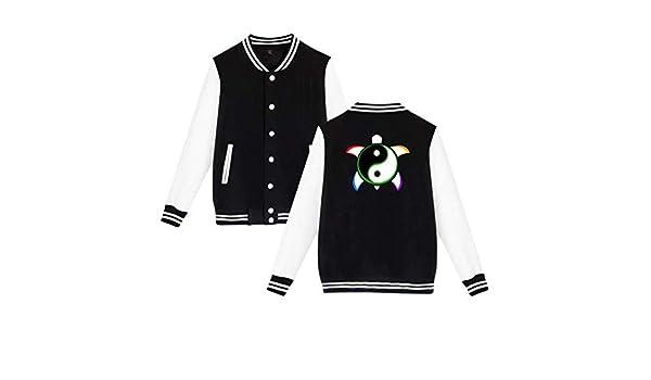 Yin Yang Turtle Unisex Baseball Uniform Jacket Sweatshirt Sport Coat