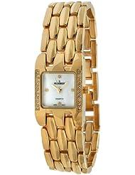 Peugeot Womens Crystal Adjustable Gold-tone Bracelet Watch