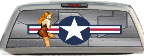 (US Air Force- Pin Up Girl- 22 Inches-by-65 Inches- Rear Window Graphics)
