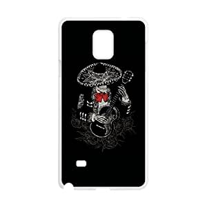 Samsung Galaxy Note 4 Cell Phone Case White La Cucaracha Fbfcu