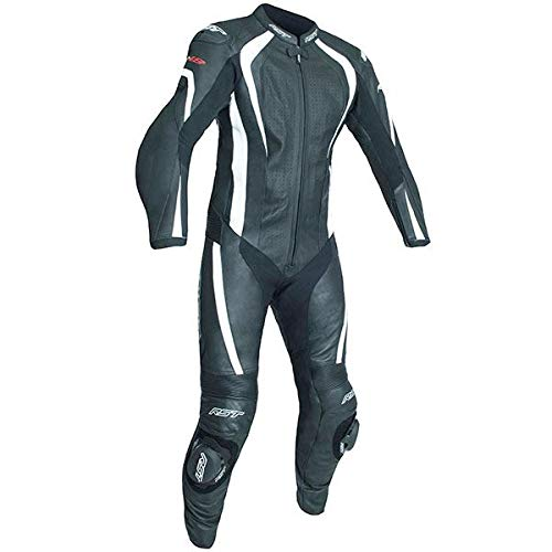 RST R-18 CE Leather Motorcycle Race Suit White Size UK44,EU54,L
