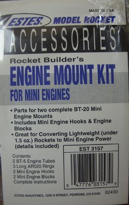 Estes Rocket Engine Mount Kit for Mini Engines