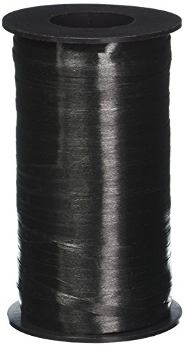 Berwick 3/16-Inch Wide by 500 Yard Spool Splendorette Uncrimped Curling Ribbon, Black Curling Ribbon 500 Yard Spool