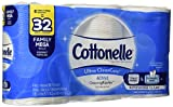 Cottonelle Ultra CleanCare Strong Toilet Paper with Active CleaningRipples, 6 Family Mega Rolls, Bath Tissue (6 Family Mega Rolls = 32 Regular Rolls)