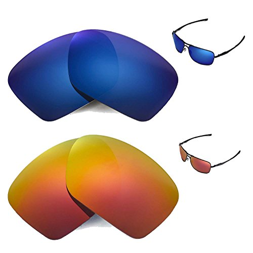 walleva-polarized-fire-red-ice-blue-replacement-lenses-for-oakley-plaintiff-squared-sunglasses