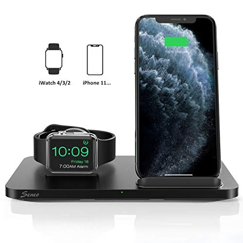 Seneo Dual 2 in 1 Wireless Charger [New Version]