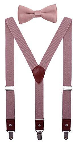 CEAJOO Toddler Boys' Suspenders and Bow Tie Set Adjustable Y Back 24