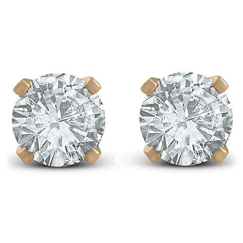 Amazon.com  1 3ct Diamond Studs Earrings 14K Yellow Gold  Jewelry 43b46527f